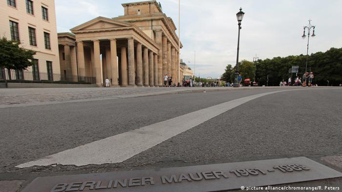 Berliner Mauerweg am Brandenburger Tor