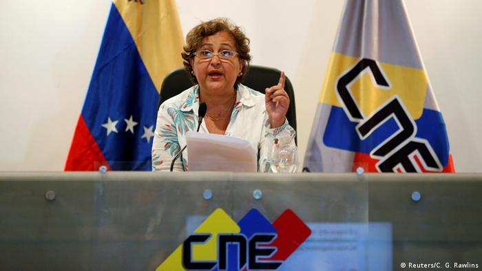 Venezuela Wahlen Tibisay Lucena (Reuters/C. G. Rawlins)