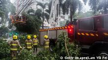 Hong Kong - Typhoon Nida hits Hong Kong