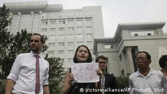 China - Protests in front of Tianjin No. 2