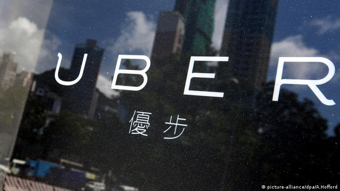 Uber Logo China (picture-alliance/dpa/A.Hofford)
