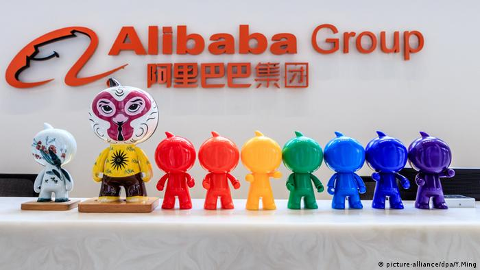 Alibaba Group Logo (picture-alliance/dpa/Y.Ming)