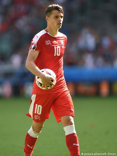 Sport - Granit Xhaka im Elfmeterschießen Achtelfinale EM 2016