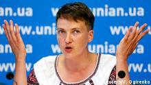 August 2, 2016*** Ukrainian pilot and MP Nadiya Savchenko attends a news conference in Kiev, Ukraine, August 2, 2016. REUTERS/Valentyn Ogirenko Reuters/V. Ogirenko