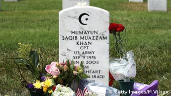 U.S. Army Capt. Humayun Khan Grabstein USA
