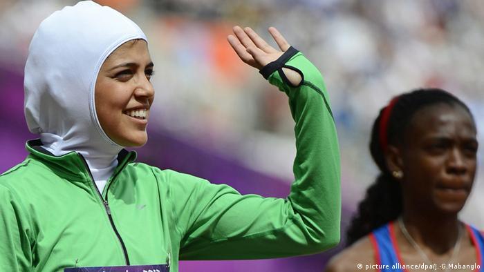 Saudi Arabien weibliche Sportler bei Olympia (picture alliance/dpa/J.-G.Mabanglo)