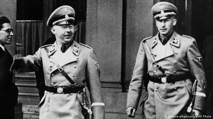 Dowódca SS Heinrich Himmler i późniejszy szef RSHA Reinhard Heydrich. Wiedeń 1938