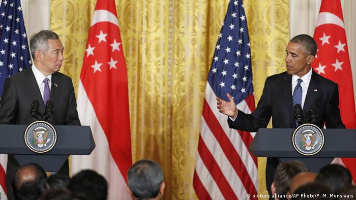 USA Barack Obama und Lee Hsien Loong
