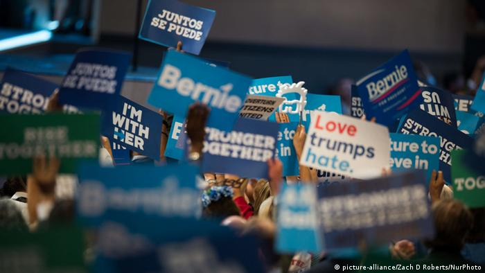 Sanders supporters at Democratic convention
