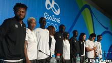 Das Flüchtlingsteam bei den Olympischen Spielen 2016 (Foto: Joscha Weber/DW)