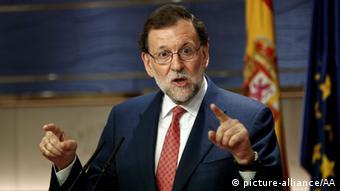 Spain's interim Prime Minister Mariano Rajoy