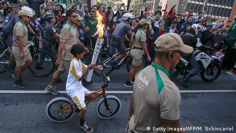 Brasilien Fackellauf Sicherheit Sao Paulo (Foto: Getty Images/AFP/M. Schincariol)