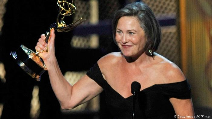 Actress Cherry Jones winning Emmy Award for role in '24', Copyright: Getty Images/K. Winter
