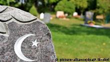 Grabstein auf einem muslimischen Friedhof