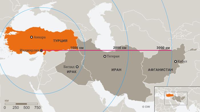 Расположение турецкой авиабазы Инджирлик