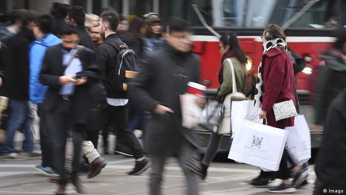 Kanada Toronto Shopping Centre Eaton Centre (Imago)