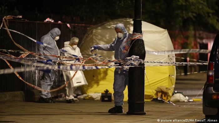 Место ножевого нападения в Лондоне, ночь на 4 августа
