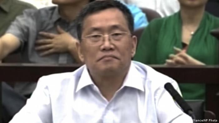 China Zhou Shifeng vor Gericht in Tianjin (picture alliance/AP Photo)