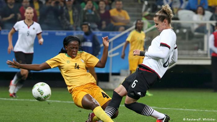 Olympische Spiele Frauenfussball Deutschland vs. Simbabwe
