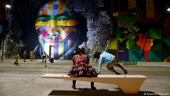 Eduardo Kobra's Rio 2016 graffiti Ethnicities, Copyright: Reuters/I. Alvarado