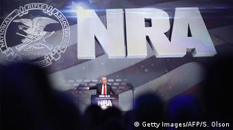 Donald Trump speaks at a NRA convention in 2016.
