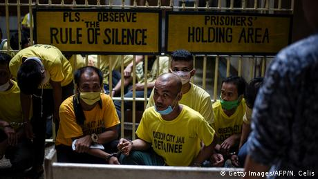 Philippinen Quezon City Gefängnis Stille Regelung