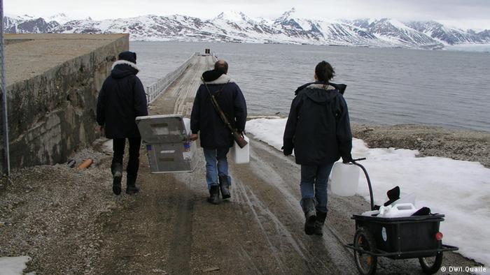 Meeresforschung Ny Alesund Spitzbergen