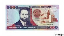 Währung Mosambik 5000 Meticais Banknote aus Mosambik, Afrika McPKST McPKST Banknote out Mozambique Africa McPKST McPKST © Imago