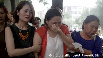 China Fan Lilin Frau von Menschenrechtsaktivist Gou Hongguo (picture-alliance/AP Photo/G. Shih)