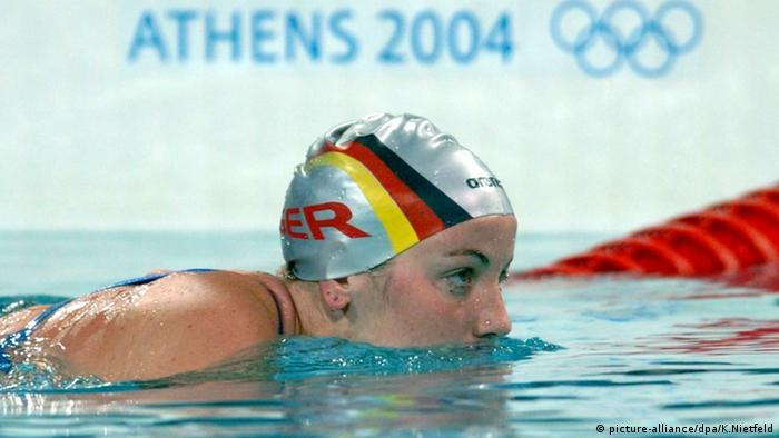 Sarah Poewe bei Olympia in Athen 2004, Foto: picture-alliance/dpa/K.Nietfeld