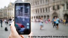 Belgien Pokemon Go Spieler in Brüssel (Getty Images/AFP/S. Gremmelprez)