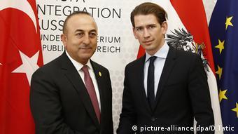 Sebastian Kurz Österreich und Mevlüt Cavusoglu Türkei