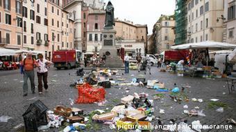 Ρώμη, Campo de Fiori μετά τη λαϊκή