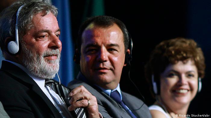 Lula, el exgobernador Sergio Cabral y Dilma Rousseff. Viejas elites, nuevas elites.
