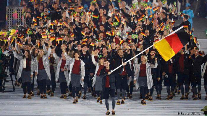 Olympia Rio 2016 Eröffnungsfeier Team Deutschland