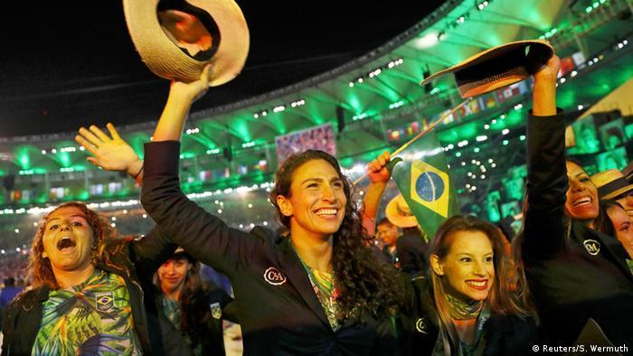 Delegação brasileira na abertura da Rio 2016