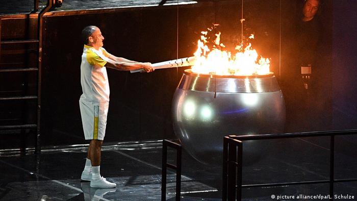 Olympia Rio 2016 Eröffnungsfeier Feuer