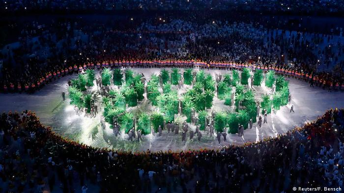 Olympia Rio 2016 Eröffnungsfeier Olympische Ringe