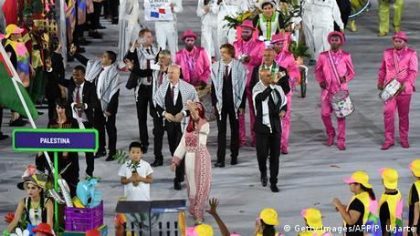 Rio de Janeiro Brasilien Olympische Spiele 2016 Team Palästina