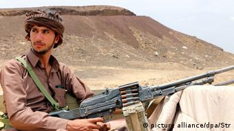 Fighter in the eastern province of Marib