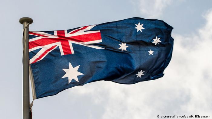Australische Flagge Symbolbild (picture-alliance/dpa/H. Bäsemann)
