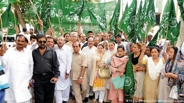 Pakistan Neue Proteste (PR Department of Pakistan Muslim League)