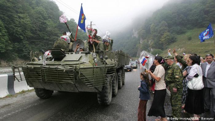 Kaukasuskrieg Südossetien Abchasien Russland