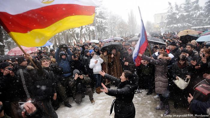 Kaukasuskrieg Südossetien Abchasien Russland (Getty Images/AFP/M. Mordasov)