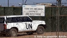 The vehicle of United Nations chief Ban Ki-moon enters a UN base in Bir-Lahlou, in the disputed territory of Western Sahara, situated 220 kilometres (137 miles) southwest of the Algerian town of Tindouf, on March 5, 2016. / AFP / Farouk Batiche (Photo credit should read FAROUK BATICHE/AFP/Getty Images) Copyright: Getty Images/AFP/F. Batiche