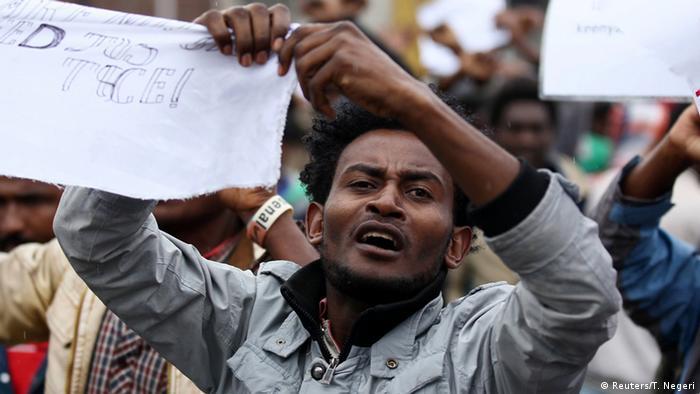 Äthiopien - Proteste gegen die Besitzstände im Land