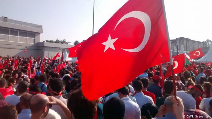 Comício pró-Erdogan em Istambul