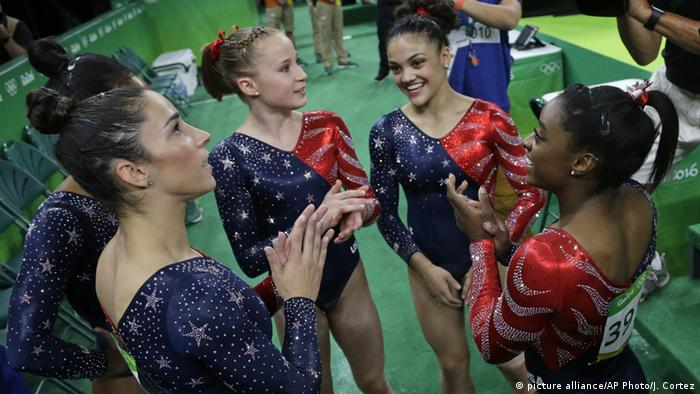 Rio 2016 Turnen Team USA (picture alliance/AP Photo/J. Cortez)