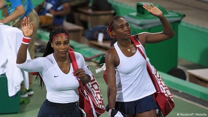 Serena y Venus Williams durante las Olimpíadas de Río (2016).