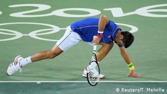 Rio Momente 06 08 Tennis Novak Djokovic Serbien